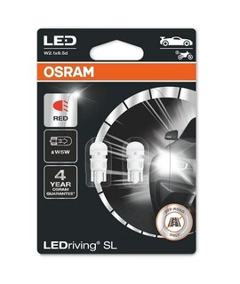 OSRAM LEDriving - W2.1x9.5d - W5W / RED - 2825DRP (0316) - комплект 2бр.