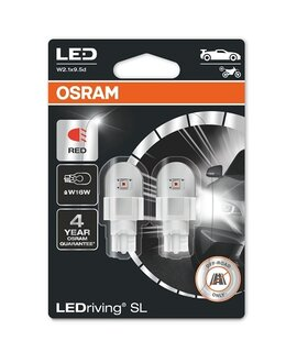 OSRAM LEDriving - W2.1x9.5d - W16W / RED - 921DRP (0155) - комплект 2бр.