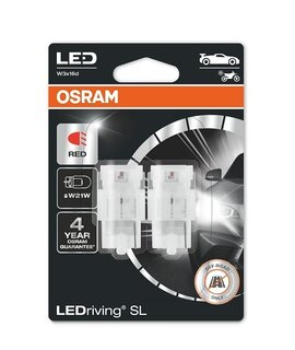 OSRAM LEDriving - W3x16d - W21W / RED - 7505DRP (9259) - комплект 2бр.