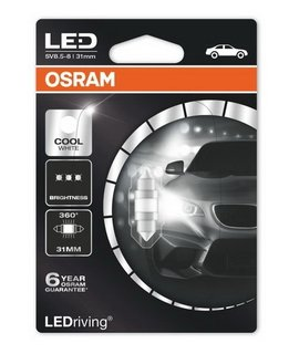 OSRAM Premium - Festoon 31mm - C5W / 6000K - 6497CW (5391) (до изчерпване)